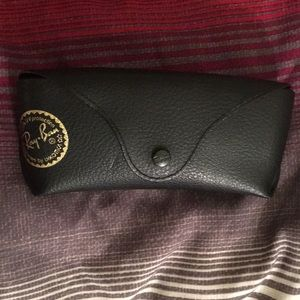 RayBan sunglasses leather carrying case
